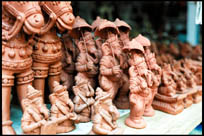 Clay Ganeshas for sale, Pondicherry