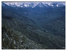 The Continental Divide, View from Moro Rock, Sequoia National Park