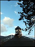 Ski slope and Clock, South Lake Tahoe
