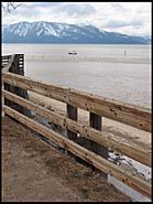 Fence along the beach, South Lake Tahoe