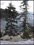 Fannette Island through the trees, Emerald Bay, Lake Tahoe