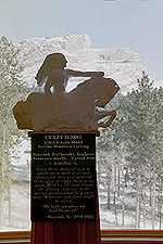 Scale Model and the real mountain, Crazy Horse Memorial, South Dakota