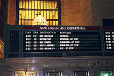 Timetable, Grand Central Terminal, New York City