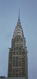 The Chrysler Building at dusk, New York City