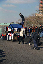 Street Entertainers at Battery Park, New York City