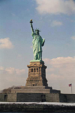 Front View, The Statue of Liberty, New York City
