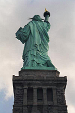 Rear View, The Statue of Liberty, New York City