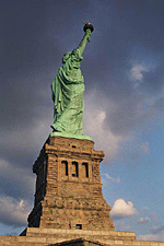 Side View, The Statue of Liberty, New York City