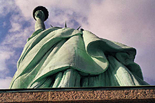 Looking Up, The Statue of Liberty, New York City