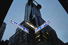 The intersection of Madison Avenue and 42nd, New York City