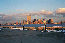 Sunset on the Manhattan Skyline, View from Ellis Island, New York City