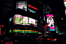 Nasdaq and the ABC marquees, Times Square, New York City