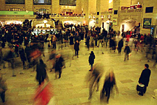 People milling around on a Friday Evening, Grand Central Terminal, New York City