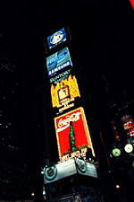 Times Square and Coke Billboard, New York City
