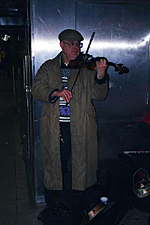 Subway Violinist, New York City