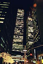 The World Trade Center at night, New York City