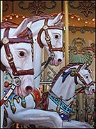 Horses from a carousel, Pier 39, San Francisco