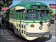 Green Tram, Pier 39, San Francisco