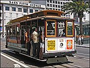 Cable car on Union Street, San Francisco