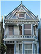 Victorian Painted Lady, Alamo Square, San Francisco