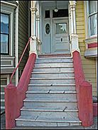Steps on a Victorian Painted Lady, Alamo Square, San Francisco