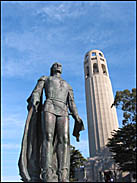 Christopher Columbus and Coit Tower, San Francisco