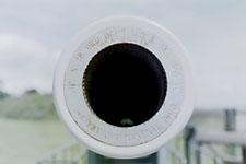 Mouth of a cannon at an army outpost on Whidbey Island, near Seattle