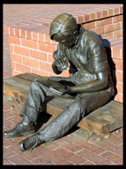 <i>Out to Lunch</i>, Statue outside Sunnyvale Public Library
