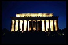 The Lincoln Memorial at night, Washington, D.C.