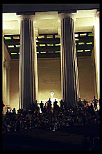 Pillars, Nighttime at the Lincoln Memorial, Washington, D.C.