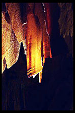 Bath Towel rock formation, Luray Caverns, Virginia