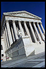 Side view of the US Supreme Court, Washington, D.C.