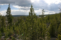 Overlook from Norris Geyser Basin