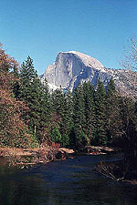 View of Half Dome from Sentinel bridge, Yosemite National Park