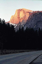 Sunset over Half Dome, Yosemite National Park