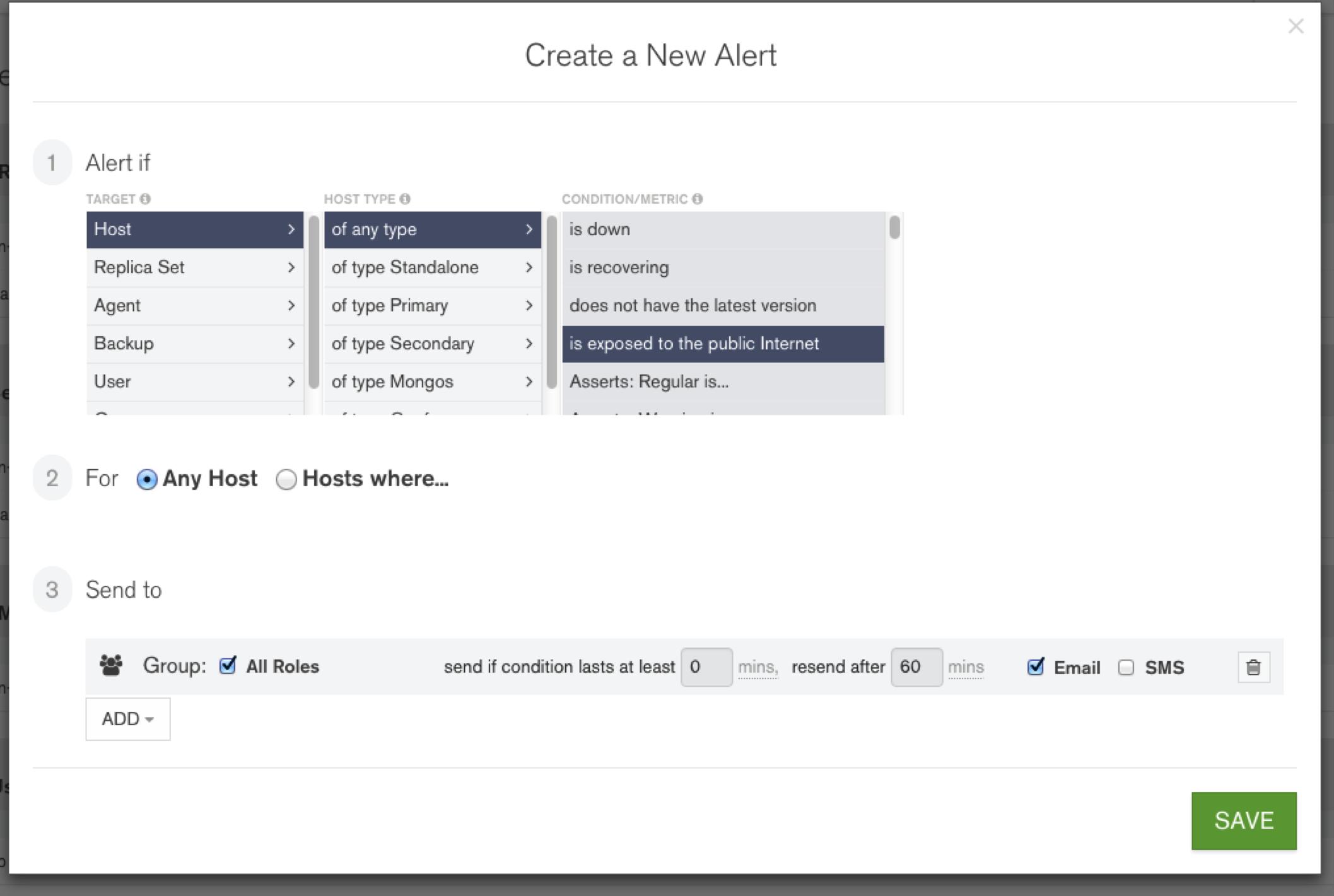 Create a new alert