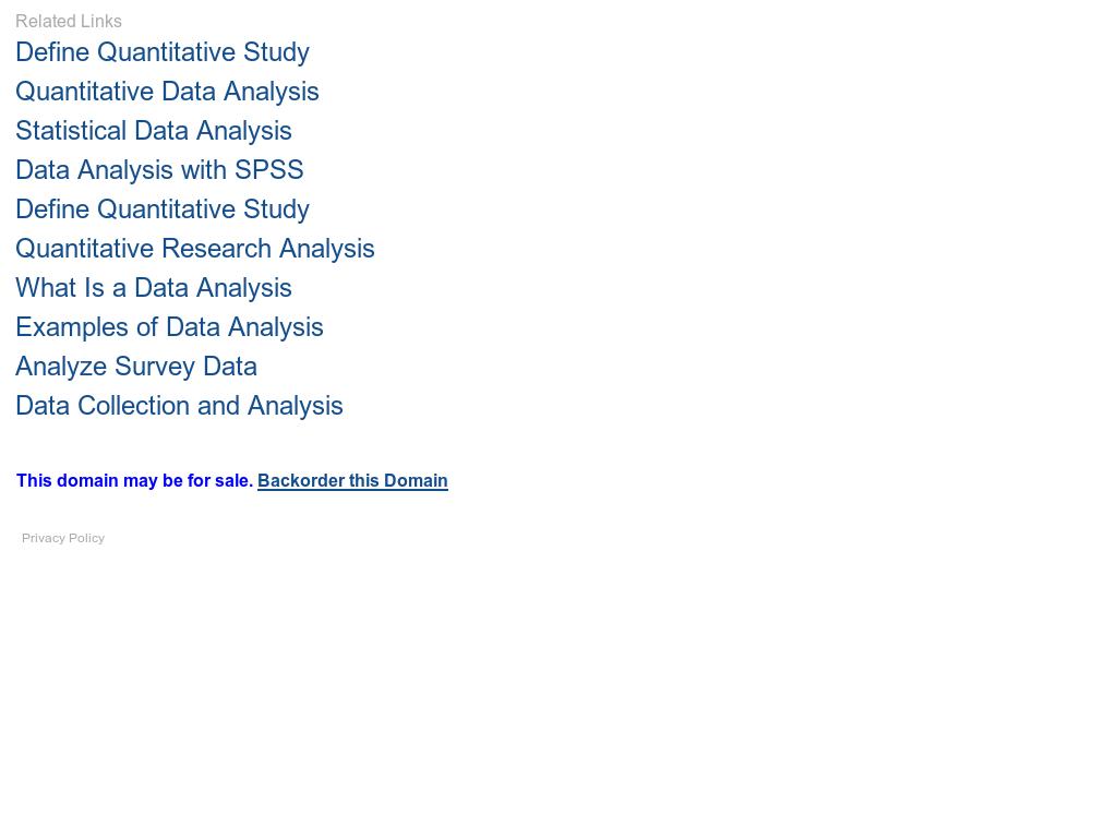 Quantitative Data Analysis Competitors Revenue And Employees