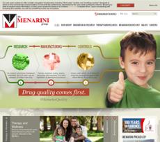 Menarini website history
