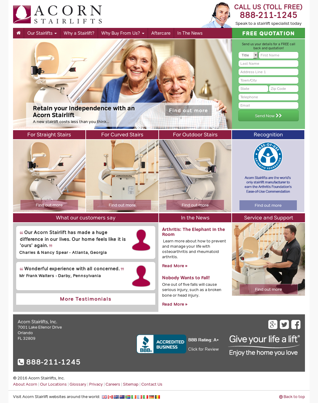 Superieur Acorn Stairlifts Competitors, Revenue And Employees   Owler Company Profile