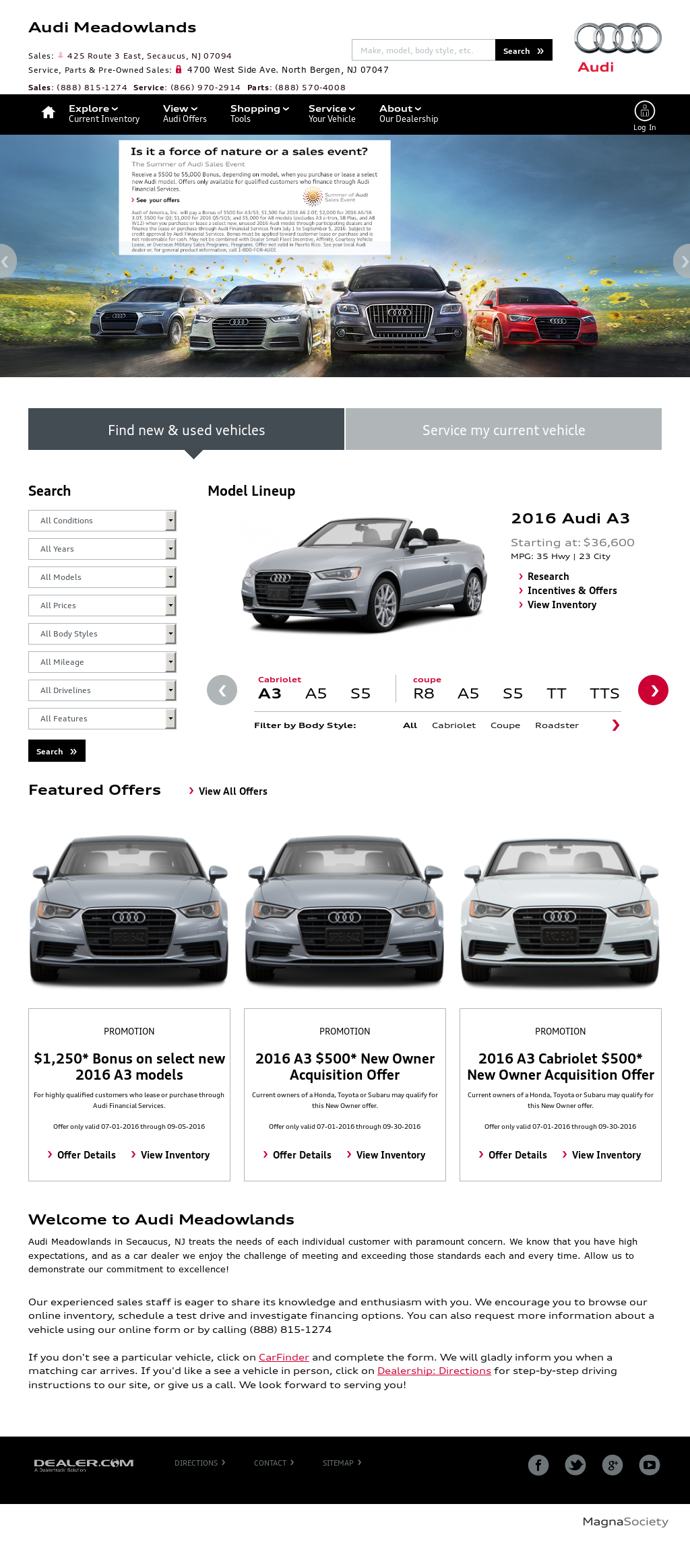 Audi Meadowlands Competitors Revenue And Employees