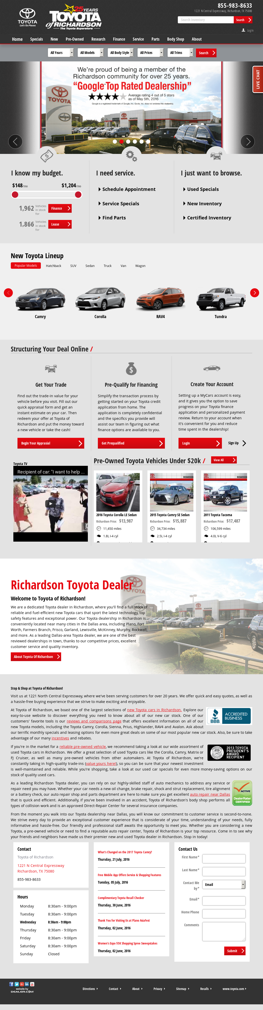 Toyota Of Richardson Competitors Revenue And Employees Owler