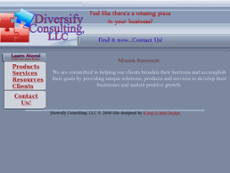 Diversify Consulting website history