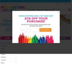 International Arrivals website history