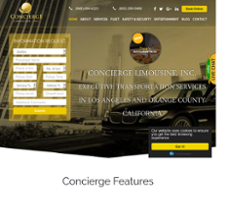 CONCIERGE LIMOUSINE website history
