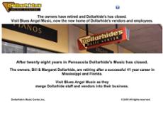 Dollarhide's Music & Sound website history