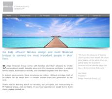 Bridge Financial Group website history
