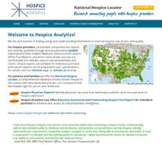 Hospice Analytics website history