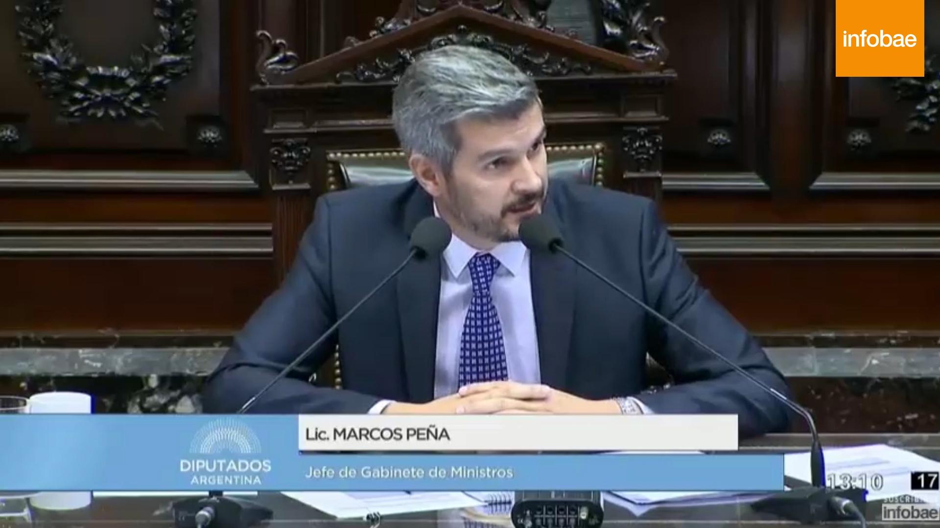 Marcos Peña en la Cámara de Diputados: los cruces con Axel Kicillof ...