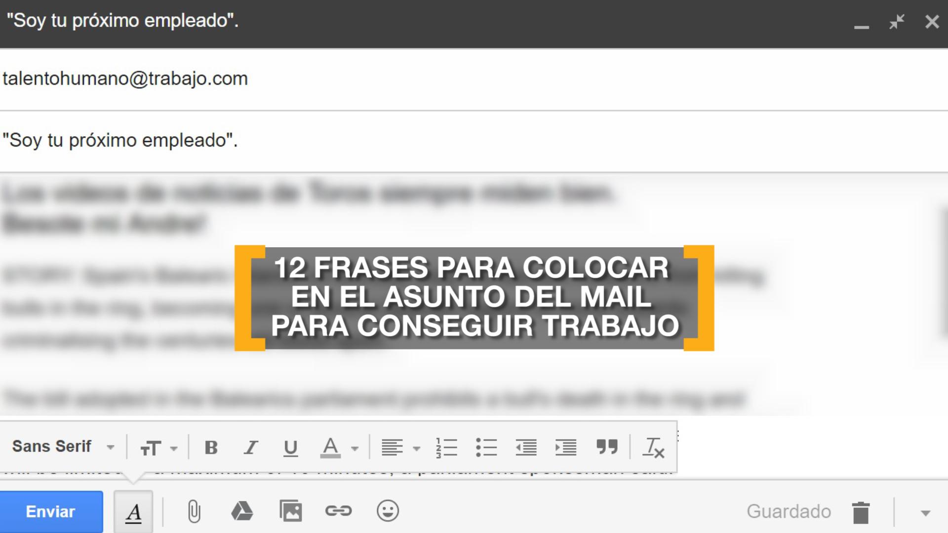 Qué poner en el asunto del mail para conseguir trabajo - Infobae