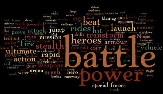 Most Common Words in Toy Adverts - Visualized - Information Is Beautiful
